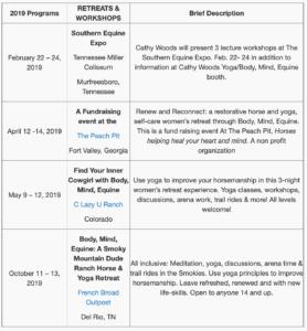 2019 Schedule Archive
